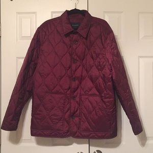 water resistant light weight quilted jacket